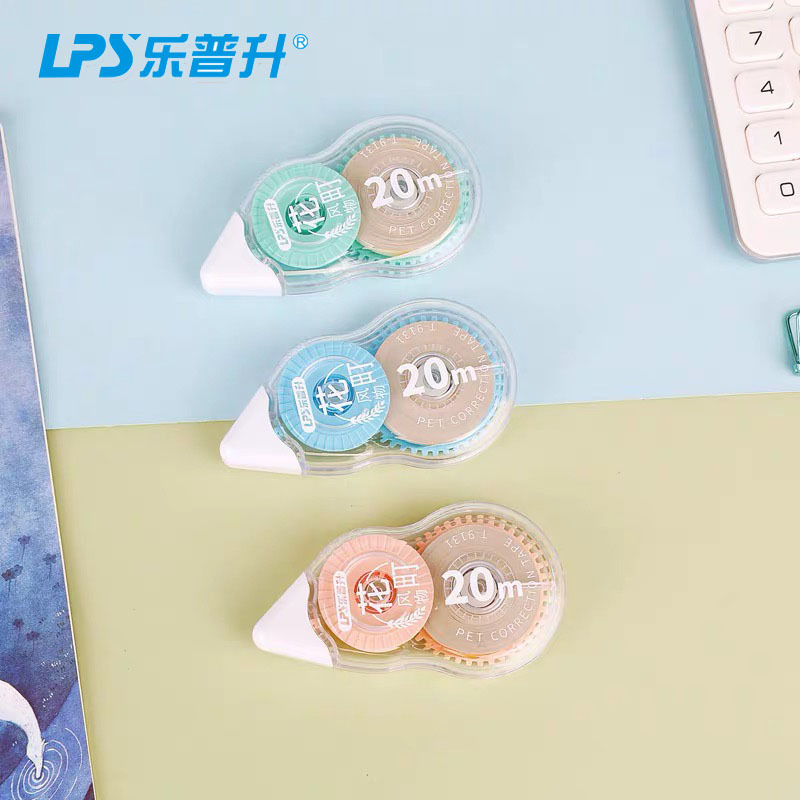 LPS New Products Flower-Machi Beige Tapecore Correction Tape 20 M Corretion Pen/fluid Large-Volume Correction Tape