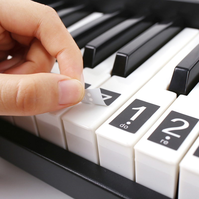 51/61/88 Key Piano Stickers Electronic Keyboard Label Note Stickers For Piano Learners