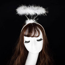 Ladied Pluizige Halo Angel Hoofdband Fee Fancy Dress Party Haarband Nieuwe Haarelastiekjes Ozdoby Doen Wlosow leuke Angel head bands bruiloft(China)