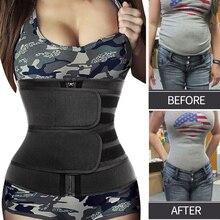 Belt Shapers Corset 9-Steel Cincher Waist-Trainer Slimming-Trimmer Tummy Neoprene Woman