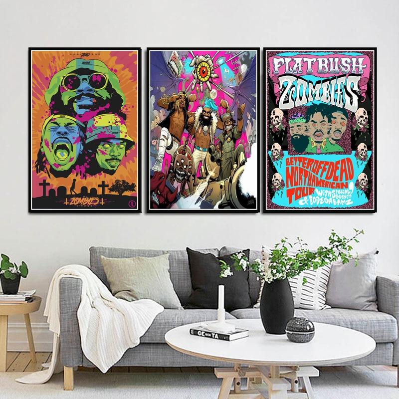 New Flatbush Zombies Rap Music Singers Ablum Custom Poster Print Art Decor T-112
