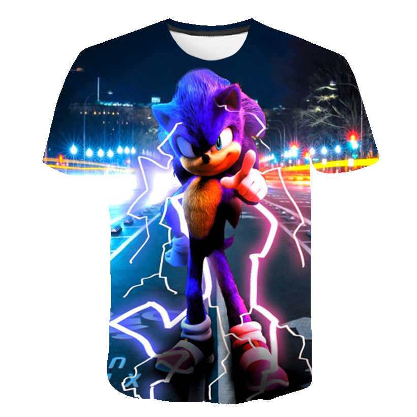 Sonic The Hedgehog Girls Clothes 3d Kids T Shirt Summer Tops Baby Boys Clothes Mario Summer Cartoon Anime T Shirt Birthday Gift Aliexpress