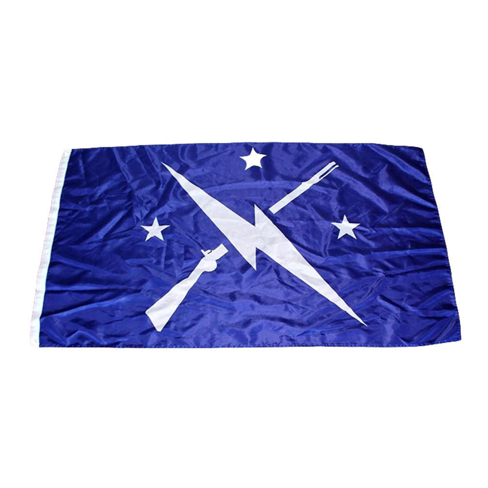 3x5ft Fallout Minutemen ธงกิจกรรมตกแต่งธง 90x150 ซม.100D โพลีเอสเตอร์คุณภาพสูง