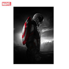 Superhero Marvel Poster Painting Iron Man Captain America Action Movie Characters Wall Art Kids Room Home Decoration Gift Toy