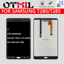 7 #8243 LCD For SAMSUNG Galaxy T280 LCD Touch Screen With Frame Digitizer For Samsung Galaxy Tab A 7 0 2016 SM-T280 T280 Tablet LCD cheap 7~10 Inch Capacitive Screen White Black All check before shipment LCD Touch Digitizer LCD Touch Screen Digitizer