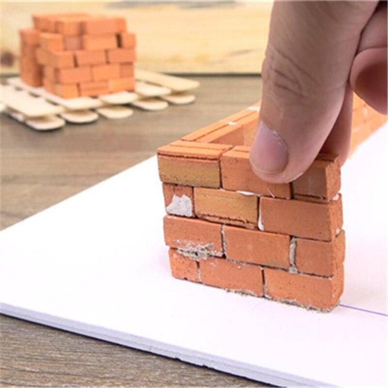 Мини, 50 шт в наборе, 1:16 кирпич модель DIY House украшения Миниатюрный Аксессуары для кукольного домика моделирование Кирпичи игрушки для детей д...