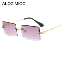 ALOZ MICC Fashion Ladies Rectangle Rimless Sunglasses Men Women Personality Trimming Luxury Metal Sunglass UV400 Q709