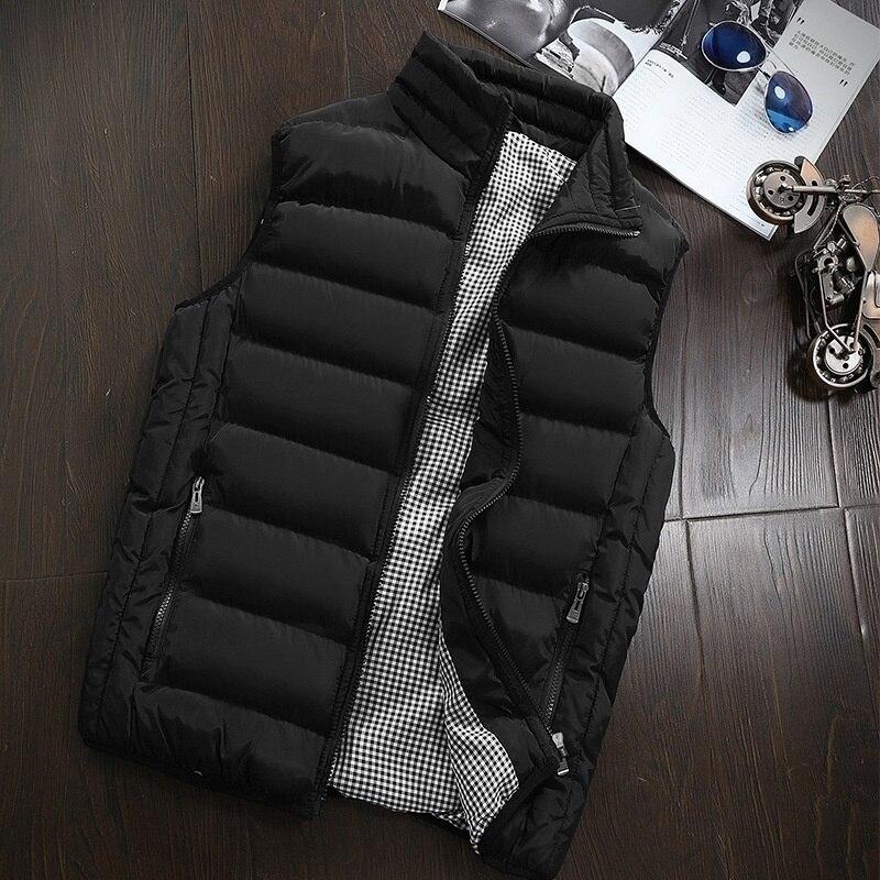 2020 New Men Coat Vest Jacket Korean Fashion Man Clothes Slim Fit Zipper Winter Down Jacket Warm Men Winter Jacket Plus Size 5XL