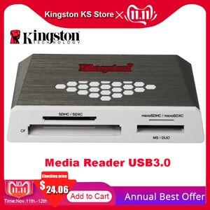Image 1 - Kingston micro leitor de cartão sd usb3.0 leitor de mídia cf tf ms sdhc/sdxc UHS I microsd multi função cartão de memória flash adaptador usb