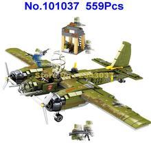 101037 559 шт 2ww Военная немецкая армия 88 бомбардировщик истребитель строительные блоки игрушка