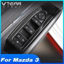 Vtear para mazda 3 2020 2019 acessórios apoio de braço da porta interior interruptor da janela do carro ajustar painel capa guarnição modificação do carro adesivo