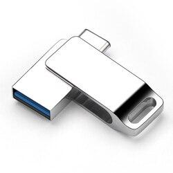 Креативный USB C флеш-накопитель 3,0 флеш-накопитель 32 Гб 16 Гб 64 ГБ флеш-накопитель 3,0 реальная емкость для Xiaomi huawei type C Flash USB Flash PC