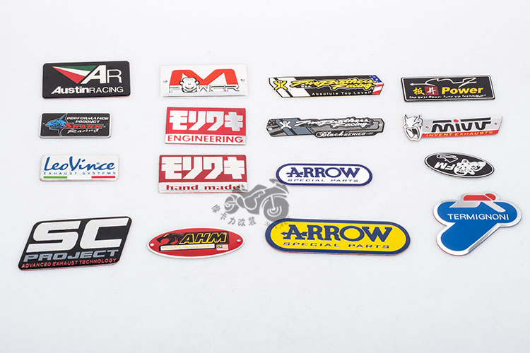 Free Shipping Motorcycle modified exhaust pipe aluminum standard stickers akrapovic yoshimura leovince snake
