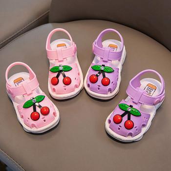 Letnie dziecięce buty 2021 dziecięce buty dziecięce plażowe sandały maluch dziewczynek buty dla chłopców owocowe sandały buty kapcie sandały tanie i dobre opinie Skóra bydlęca 7-12m 13-24m 25-36m 4-6y 10 5cm CN (pochodzenie) Lato GLADIATORKI Damsko-męskie oddychająca Miękka skóra