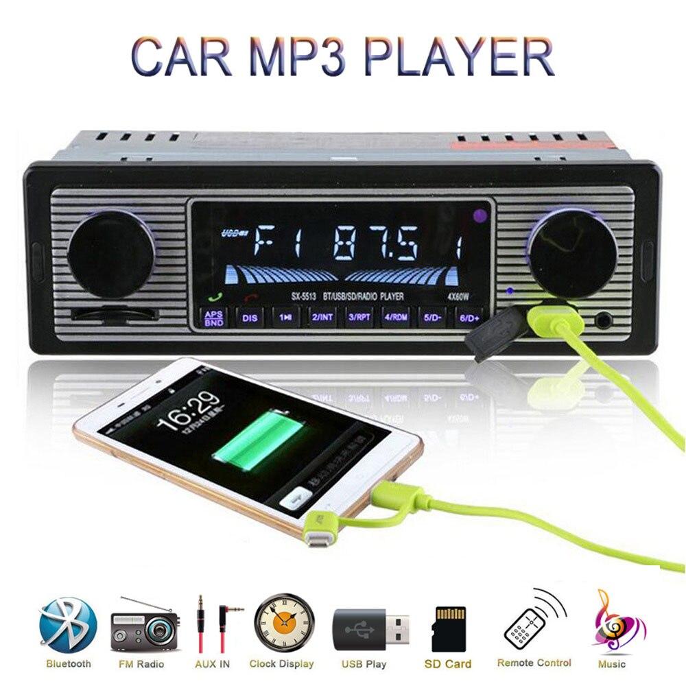 Автомагнитола в винтажном стиле, стерео-система с поддержкой Bluetooth, FM, SD, AUX, RCA, с пультом дистанционного управления