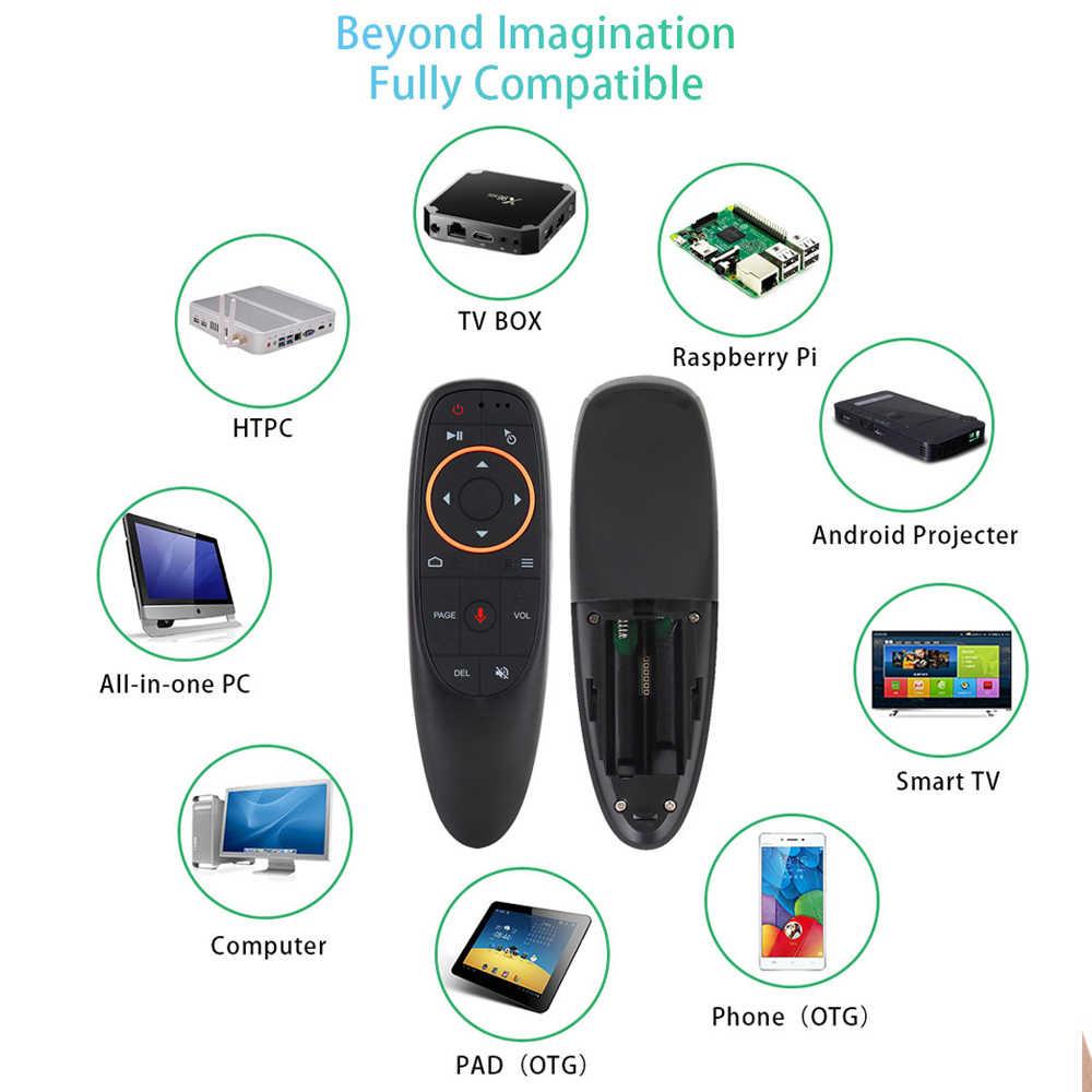 G10 Air Mouse z pilotem z 2.4G mikrofon żyroskop uczenia IR Mini bezprzewodowy inteligentny pilot zdalnego dla systemu Android TV, pudełko PC