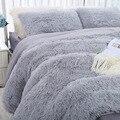 Denisroom мягкая двойная кровать, модные однотонные плюшевые одеяла и постельное белье, один размер, пододеяльник, сохраняющие тепло покрывала ...