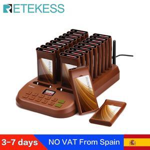 Image 1 - Retekess T116 ресторанный пейджер с 20 приемниками пейджера Макс 998 шт для кафе клиника ресторан Беспроводная система пейджинга