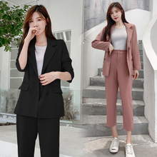 Korean Womens Suits Blazer With Pants Double Breasted Blazer And Pants