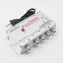 1 W 4 Out US plug 4 Way CATV VCR TV kabel antenowy telewizja wzmacniacz sygnału wzmacniacz Splitter 30DB 50 60MHz 220V moc 2W