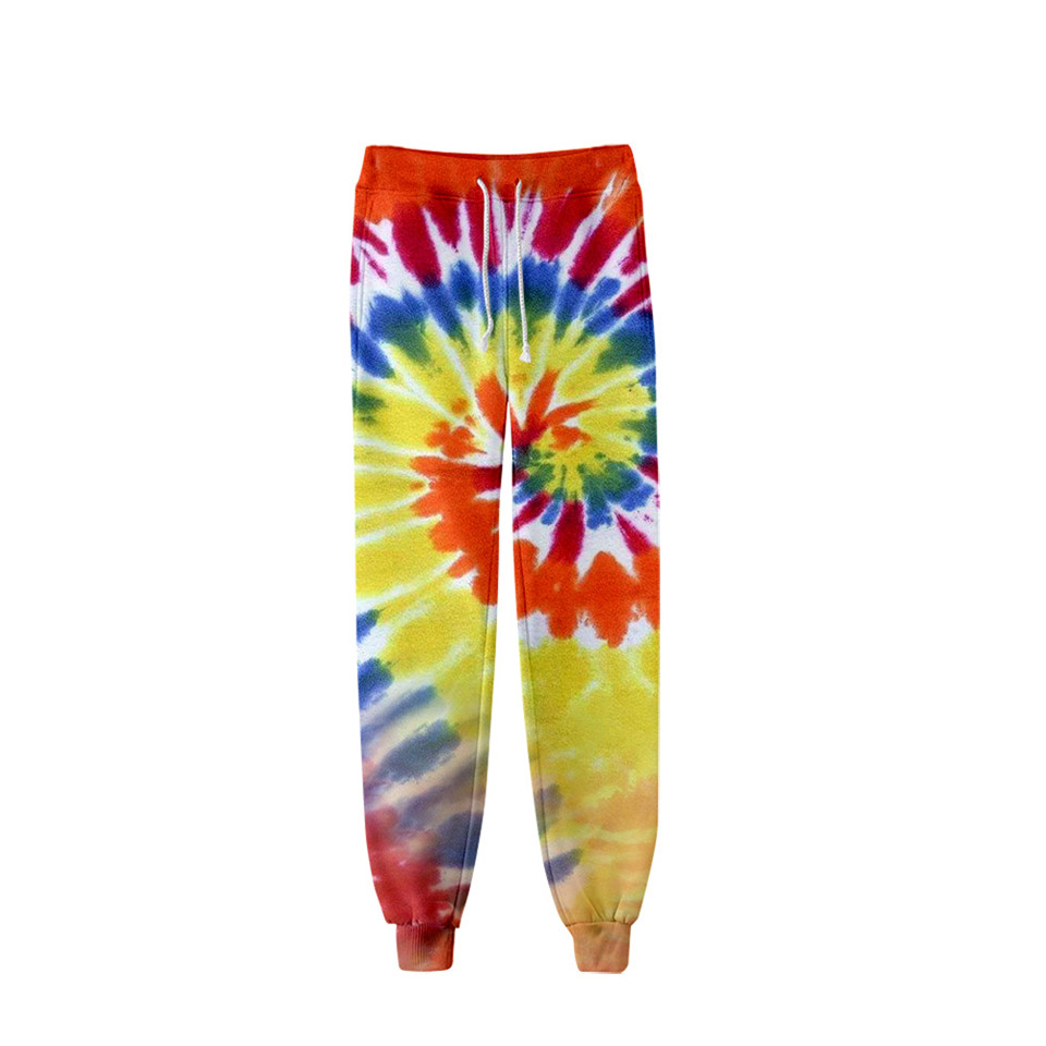 Tie Dye 3D Printed Sweatpants Fashion Harajuku Joggers Pants Colorful Psychedelic Track Pants Slim Streetwear Men/Women Trousers