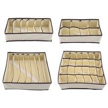 Boîtes de rangement pliables durables, diviseur de sous-vêtements, boîte de rangement pliable, conteneur pour chaussettes et soutien-gorge, diviseurs de vêtements portables