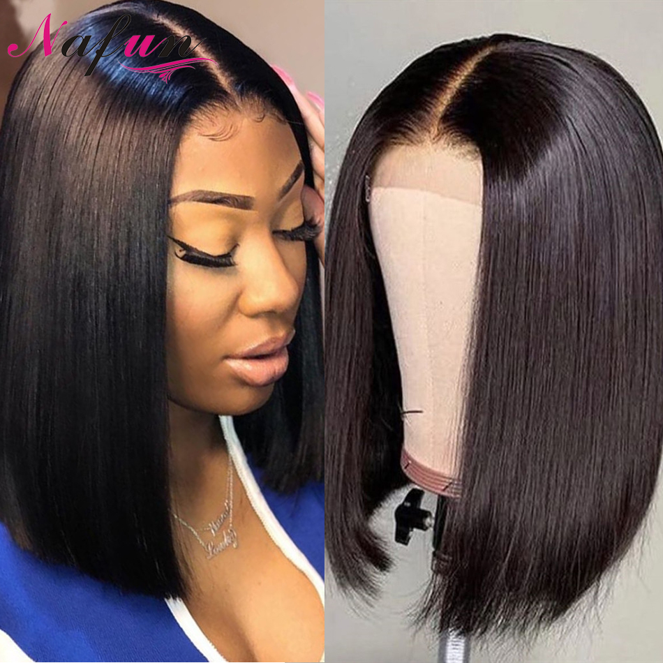 Straight Lace Front Bob Wigs Brazilian Lace Front Wigs For Women 4X4 Lace Closure Wigs Transparent Lace Wigs 13x4 Short Wig Remy