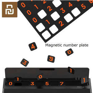 Image 4 - Bcase TITA 플립 타입 자동차 임시 주차 전화 번호 카드 플레이트 미니 자동차 장식 Mi Life