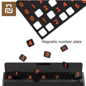 Image 4 - Bcase TITA çevirme tipi araba geçici park kartı telefon numarası kart plaka Mini araba dekorasyon için Mi yaşam