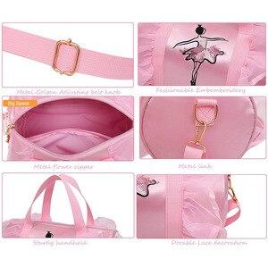 Image 5 - Ballet Dance Bags Pink  Girls Sports Dance Kids Backpack Baby Barrels Package Bag Costume Clothes Shoes Dress  Handbag