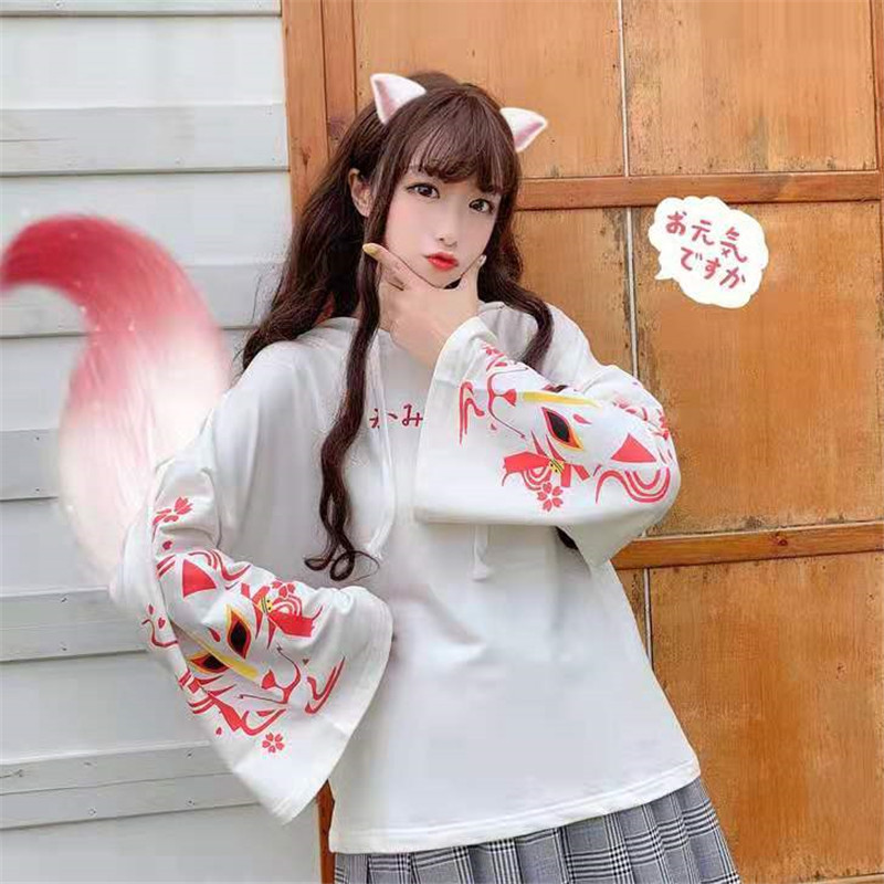 Newest Spring Autumn Fashion females Cute Foxs Animal Sweatshirts Student Hoodies Sweet Loose Women Pullovers For Teenager Girls