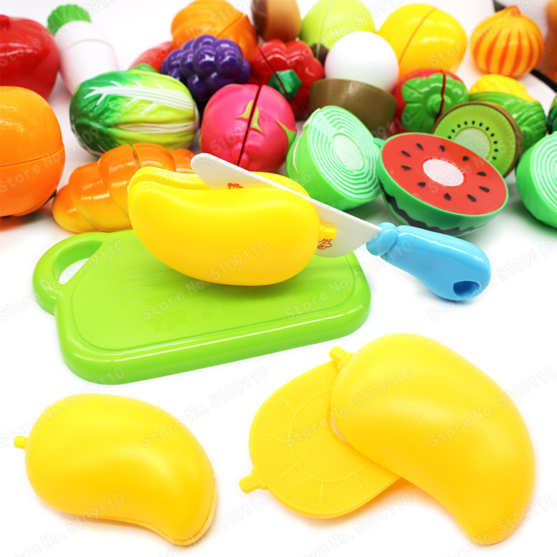 Mini Mango Vegetables Girl Kitchen Safety Cutting Diy Childrens Christmas Gifts Model Set Character Play Game Educational Toys