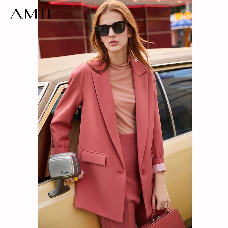 Amii Spring  Temperament Professional Three Piece set Women  New Nine point Suit pants and lapel suit coat  11940447Womens Sets   -