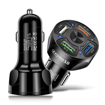 4 ładowarka samochodowa USB uniwersalna szybka ładowarka samochodowa 3A QC3 0 jeden do wielu adapter do zapalniczki samochodowej ładowarka do telefonu komórkowego tanie i dobre opinie CN (pochodzenie) 3 8cm China NONE