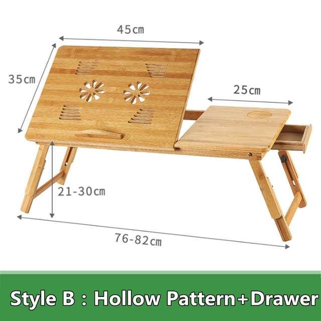 Portable Folding Bamboo Laptop Table 5