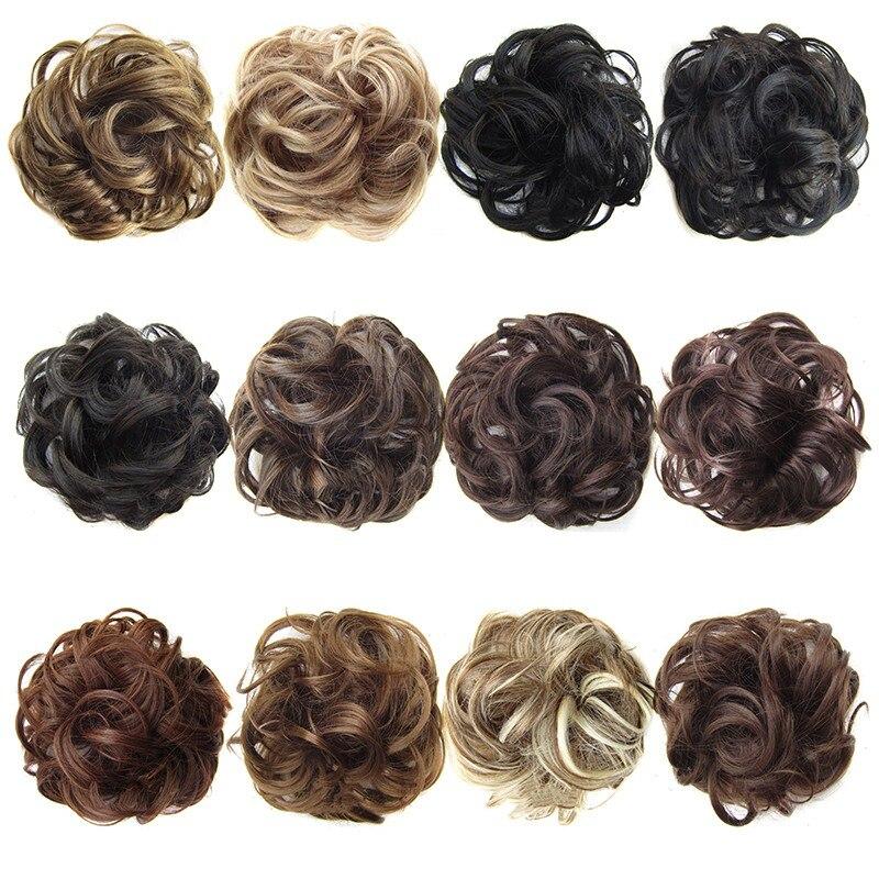 Les postiches synthétiques bouclés de vague élastique de Filament à hautes températures de dames enveloppent des accessoires de cheveux pour des filles de femmes