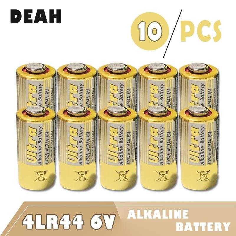 Baterias secas primárias 4lr44 6 v, bateria alcalina 476a l1325 1414a pro v4034px px28ab › k28l, para controle remoto com 10 peças calculadora de brinquedo