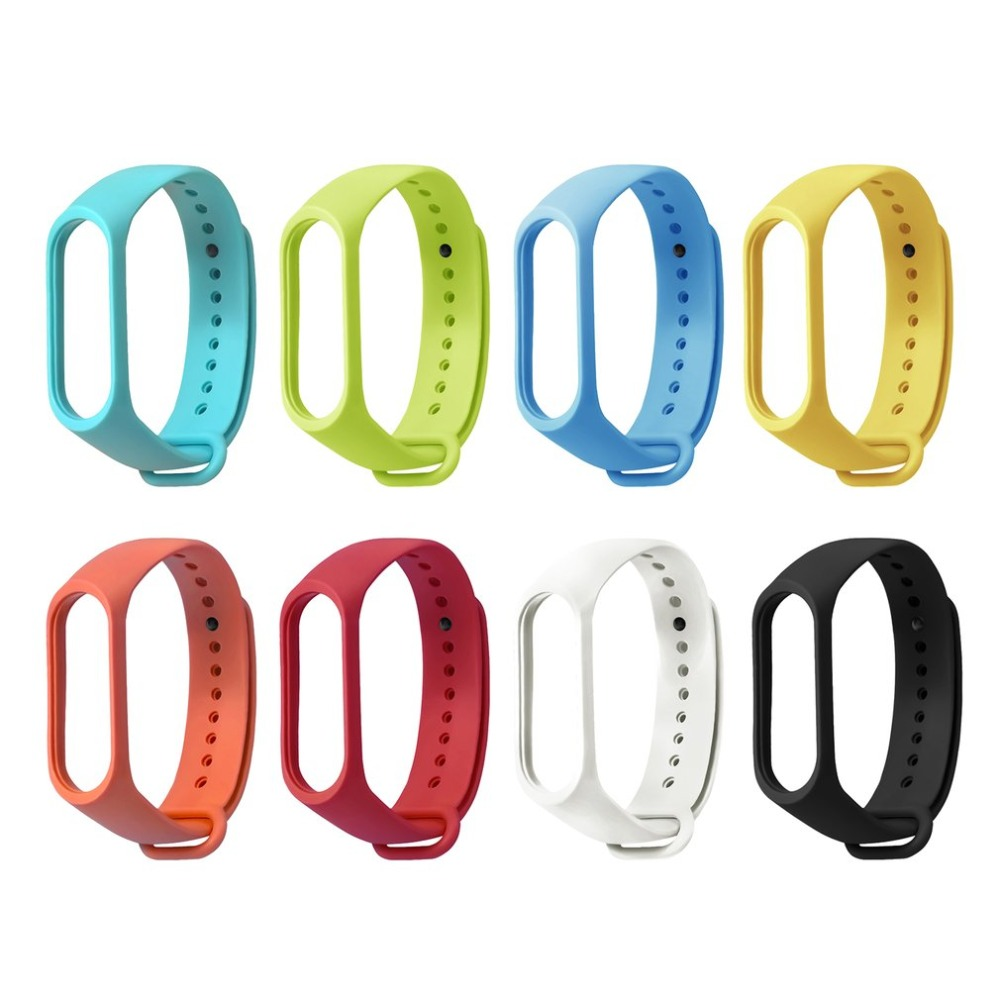 TPE Solid Color Wristband Wrist Strap Bracelet With Secure Faster Smart Accessories For Xiaomi Band 3 Bracelet Replacement