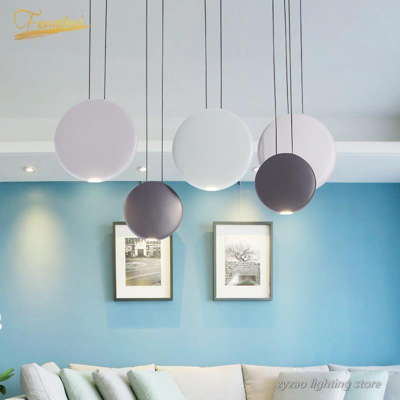 Modern Designer LED Pendant Lights Living Room Nordic Indoor Decor Simple Pendant Lamps Loft Cafe Restaurant Bar Hanging Lamp