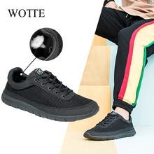 Men Casual Shoes Walking-Chaussure Lightweight Breathable Big-Size WOTTE for Homme 49-50