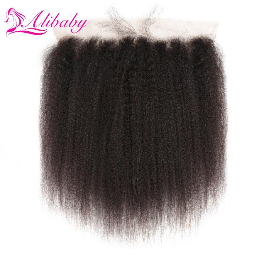 Alibaby Kinky Straight Hair Closure 8'-22
