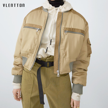 Autumn Short Baseball Jackets Coats Women Zipper Splice Casual Loose Basic Jacket Bomber Coat Female Outwear Tops Chaqueta Mujer цена 2017
