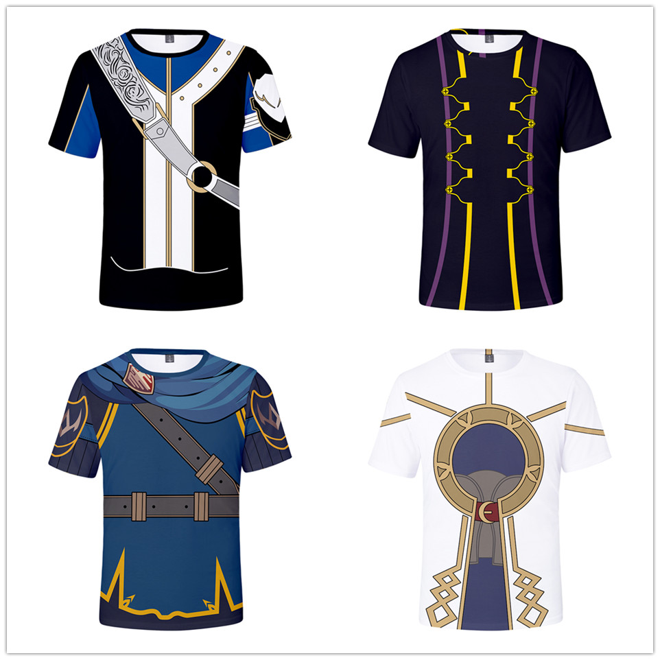 3D Print Game Fire Emblem Men's Short Sleeve T shirt Clothes 3D Print Fire Emblem Mens T-shirt Fashion boys So Cool Tshirt Top image