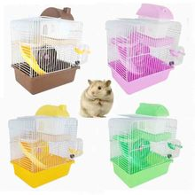 Pet Cage Hamster Cottage with Transparent Skylight Double Layer House for Golden