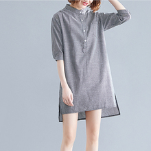 Dress Maternity-Blouse Striped Pregnant-Women Half-Sleeve Plus-Size Summer for Top 8876