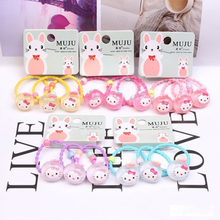 3 Pcs Cartoon Fruit Cat Baby Hairband Children Elastic Headband For Girls Cute Animal Hair Ropes Headwear  Accessories Kid