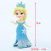6-Frozen Princess Garage Kit Sophia Snow Queen Elsa Anna Doll Cake Decorations And Ornaments(China)