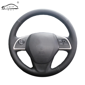 Image 1 - Artificial Leather car steering wheel braid for Mitsubishi Outlander 2013 2014 Mirage 2014 ASX L200 /Custom made Steering cover