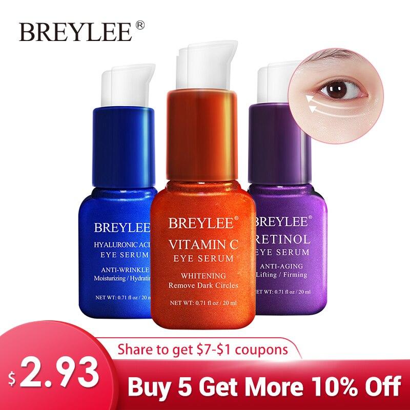 BREYLEE Eye Serum Eye Mask Retinol Hyaluronic Acid Vitamin C Eye Care Cream Skin Care Eye Bags Moisturizing Dark Circles Firming