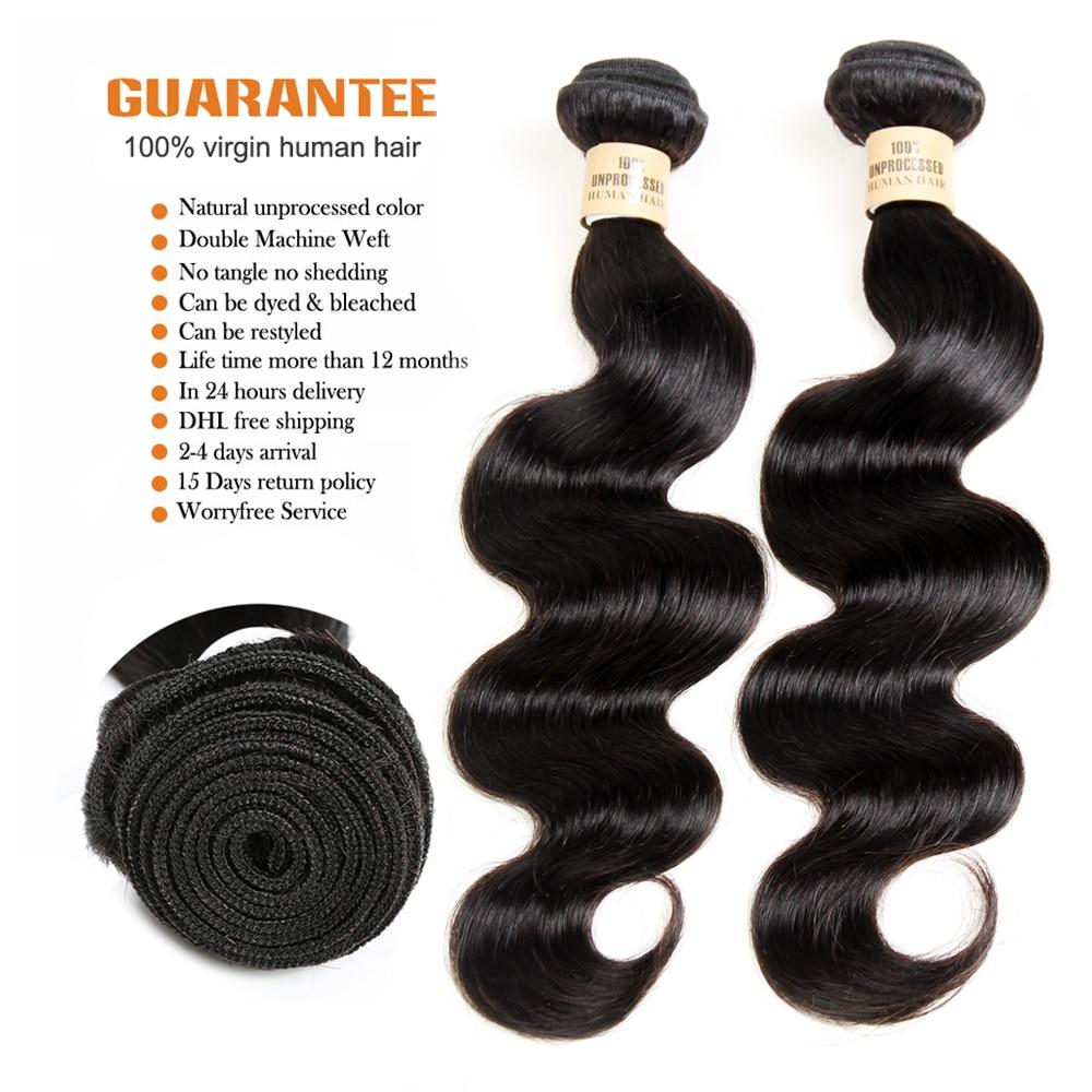 VIOLET Peruvian Body Wave Bundle 3/4 PCS Long 26inch Hair Weave Non-Remy Human Hair 8\